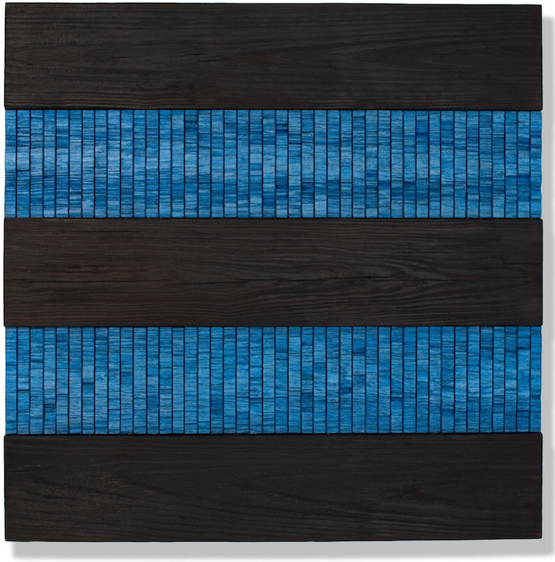 Joe Segal - contemporary wall sculpture made from reclaimed wood